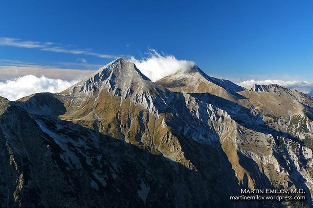 Връх Вихрен с Джамджиев ръб гледан от връх Тодорка