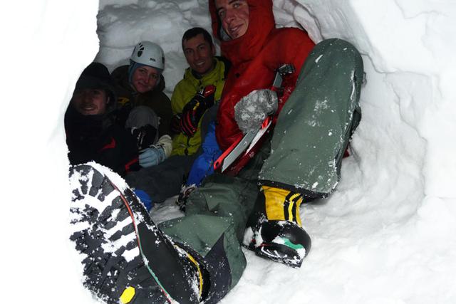В снежната пещера