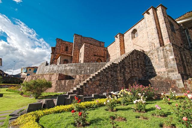 Част от Кориканча (Храмът на Слънцето) в Куско