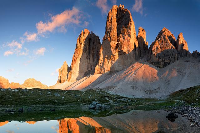 Трекинг в Доломитите с изкачване на Мармолада, Монте Кристало и Тофана ди Роузес