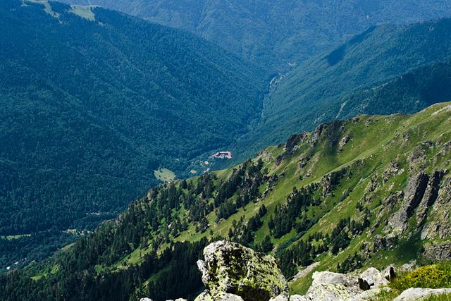 Рильский Монастырь - вид с вершины Мальовица