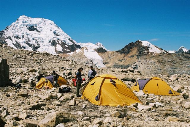 Базовия лагер на връх Писко