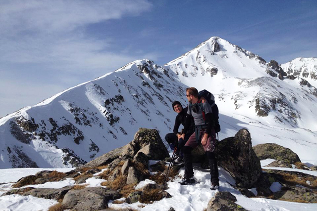 Winter hike with climbing of two Pirin peaks - Bezbog and Polezhan, Bulgaria